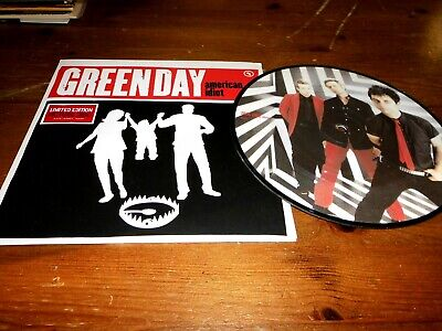 Green Day 7  Vinyl Picture Disc Single American Idiot  W652 WARNER 2004 • 30£