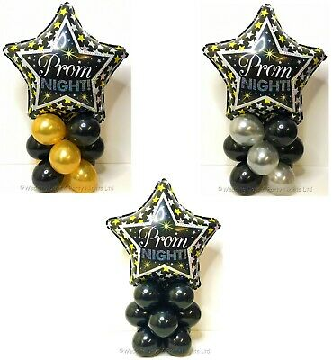£5.49 • Buy Prom Night Foil Star Balloon Display Kit Party Table Centrepiece Decorations