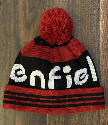 Penfield Red And Black Bobble Hat - Oi Polloi • 10£
