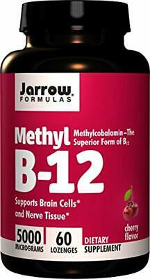 Jarrow Formulas Methylcobalamin (Methyl B12), Supports 5000 Mcg, 60 Lozenges • 13.47£