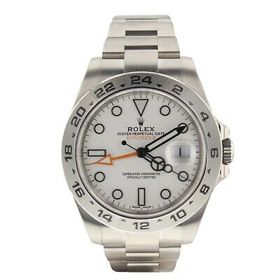 $ CDN13040.42 • Buy Rolex Explorer II Steel 42 Mm White Watch 216570 Full Stickers Complete 2020