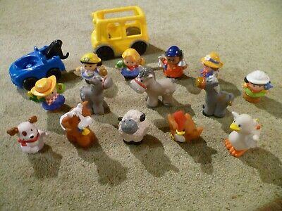 16 X Fisher Price Farm Animals And Little People Figures Plus Vehicles • 9.99£