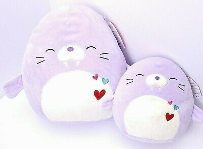 $ CDN46.18 • Buy New Lot Of 2 Squishmallows 12  + 8  Winnie The Walrus Purple Plush Pillow Toy