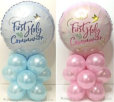 First 1st Holy Communion Foil Balloon Kit Party Table Decoration No Helium Req • 4.95£