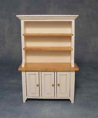 £12.99 • Buy Dolls House 1/12 Scale White  And Pine Kitchen Dresser