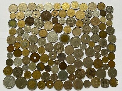 Job Lot Old British Europe World Coins Mixed Unsorted Foreign Lot H1 • 0.99£