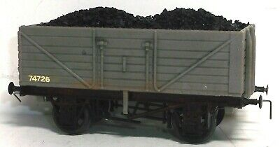 Dapol 7 Plank Open Wagon Wire Hook Type Couplings & Real Coal Load • 7.99£