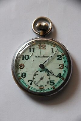 Antique Military WWII Pocket Watch   JAEGER LECOULTRE   Running   • 219.99£