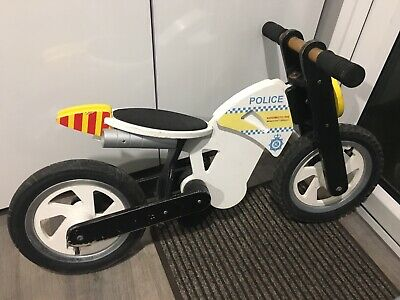 Kiddimoto Police Scrambler Wooden Balance Bike Collect South Wales Or Essex • 25£