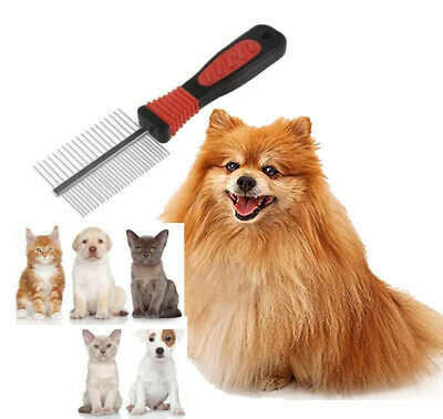 Comb Double Sided Pet Cat Dog Metal Grooming Brush Hair Comb Fur Rake Tool • 3.25£