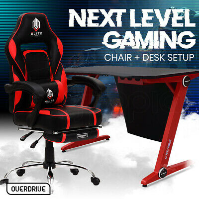 AU409 • Buy 【EXTRA15%OFF】OVERDRIVE Gaming Chair Desk Racing Seat Setup PC Combo Office