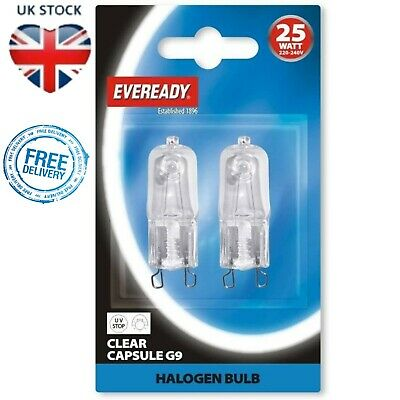 Halogen Capsule Bulb G9 24W Energy Class A Halopin Oven Light Lamp Cooker Osram • 3.99£