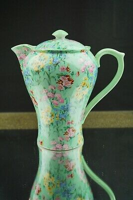 Shelley Melody Chintz Coffee Pot 13453 Vintage China • 60£