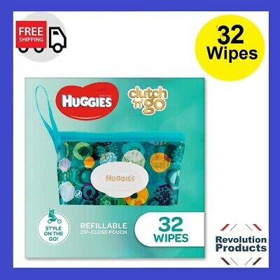 AU7.79 • Buy HUGGIES Baby Wipes Refillable Clutch `N' Go, 32 Wipes On The Go Soap MI Free