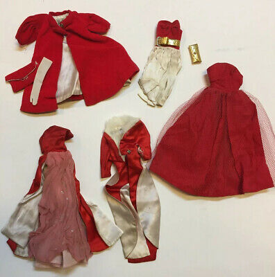 $ CDN26.45 • Buy ✨ Vintage Barbie 1960s Clothing LOT Magnificence Silken Flame Red Flare Dress