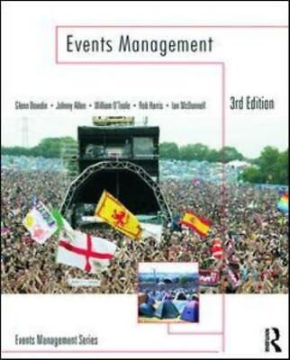 £6.92 • Buy Events Management By Glenn A.J. Bowdin (Paperback) Expertly Refurbished Product