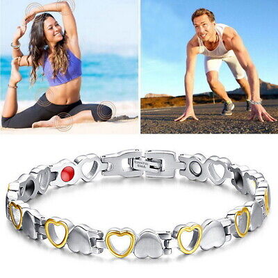 Magnetic Bracelet Heart Pattern Bangle For Pain Relief Arthritis Carpal Tunnel • 3.99£