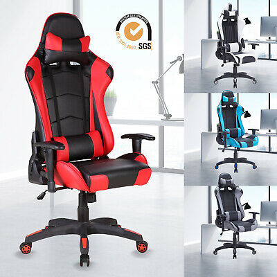 £80.99 • Buy Executive Office Chair Racing Gaming Computer Chair Swivel Recliner PU Leather