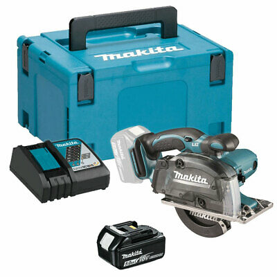 Makita DCS552Z 18V Metal Cut Saw 136mm With 1 X 5.0Ah Battery & Charger In Case • 270£