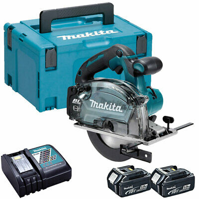 Makita DCS553Z 18V Brushless Metal Saw 150mm 2 X 5.0Ah Batteries Charger & Case • 417£