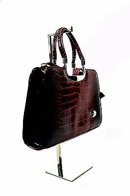Handbag Display Stand Counter Standing Purse Clutch In Stainless Steel (G900) • 14.99£