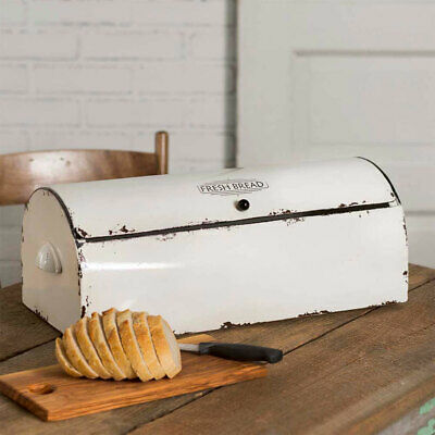 $66.49 • Buy New Vintage Design BREAD BOX In Distressed Tin