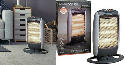 £24.99 • Buy Portable Free Standing Oscillating Halogen Instant Electric Heater 1200 W
