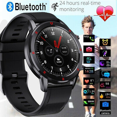 AU59.99 • Buy Bluetooth Smart Watch Waterproof Blood Pressure Heart Rate Full Touch Fitness