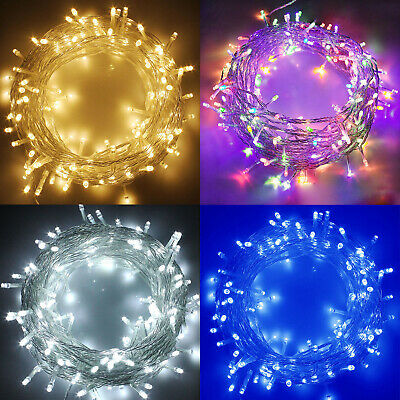 Electric Plug-in 33FT 100LED Berry Ball Xmas Bulb Fairy String Lights Decor Lamp • 12.60£