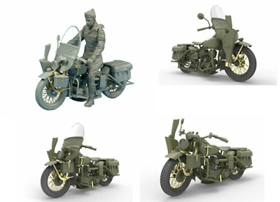 Miniart 1:35 Scale  U.S. Military Policeman With Motorcycle  Plastic Model Kit • 29.20£