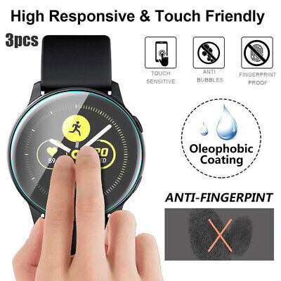 AU14.94 • Buy 1-3PC Tempered Glass Screen Protector For Samsung Galaxy Watch Active 2 40/44mm