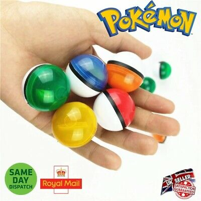 Pokeballs 6 Colours Pokemon Figure Mini Pikachu Ash Master Toy Ball Go Uk Seller • 2.99£
