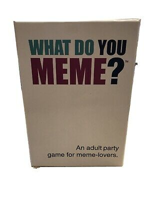AU15.74 • Buy What Do You Meme? An Adult Party Card Game For Meme-Lovers