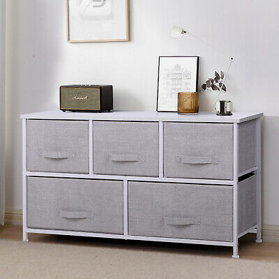 Fabric Cabinet Storage Unit Chest Of Drawers Metal Frame Organiser Bedside Table • 46.90£