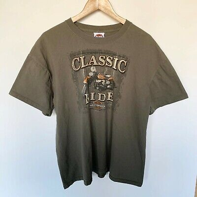 $ CDN14.99 • Buy Vintage Mens Harley Davidson Motorcycle T-shirt Classic Ride Brown Size XL