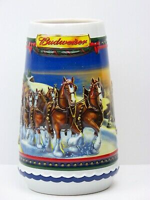 $ CDN25.30 • Buy 2002 Budweiser Holiday Stein Guiding The Way Home With Box