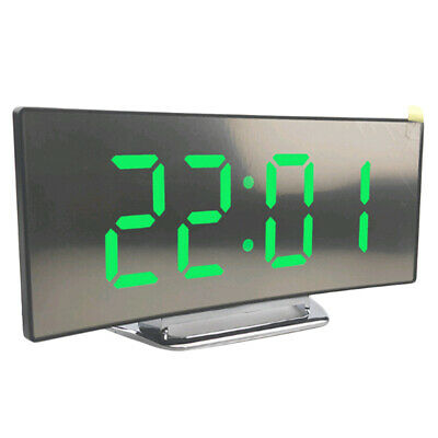 LED Display Alarm Clock Digital Projection Clock With 12/24 Hours For Bedroom • 11.66£