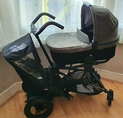 Brand New Micralite TwoFold/Double/Tandem Bundle Evergreen Stroller/Buggy • 449£