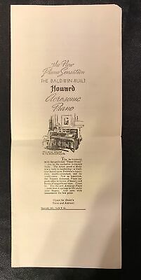 $6.95 • Buy Original Vintage 1935 Baldwin Howard Acrosonic Piano Dealer Advertising Program