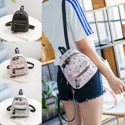 $9.99 • Buy Women Backpack Travel PU Handbag Girls Rucksack Mini Shoulder Tote School Bag/