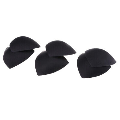 3Pairs Black Triangle Replacement Bra Pads Inserts For Sport Underwear With Hole • 4.09£