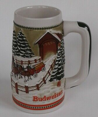 $ CDN20.65 • Buy Vintage 1980's Budweiser Holiday Beer Stein Clydesdales Horse Collectors Series