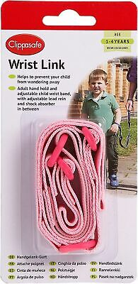 Clippasafe WRIST LINK BABY/CHILD/TODDLER SAFETY Reins PINK BN • 7.29£
