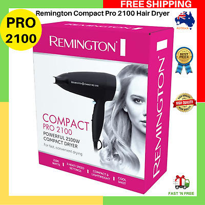 AU30.99 • Buy Remington Compact Pro 2100 Hair Dryer Cool Shot Soft Touch Finish D2050AU NEW AU