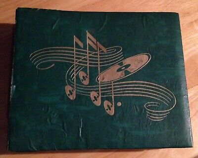 $15 • Buy Record Booklet Holder For 7 Inch 45 RPM W/records (18) Green USA