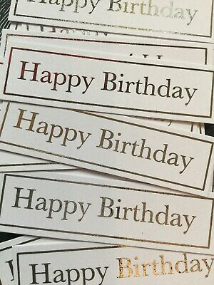 Happy Birthday X 20  Banners/embellishments/captions/toppers Card Making • 2.25£
