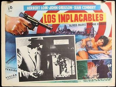 AU18.11 • Buy L435 FRIGHTENED CITY Mexican Lobby Card, '62 Sexy Yvonne Romain, Sean Connery
