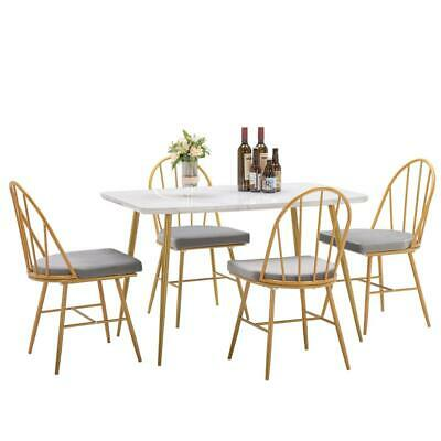 $109.99 • Buy New 5 Piece Dining Table Set 4 Dining Chairs  Marble Dining Table Dinner Kitchen