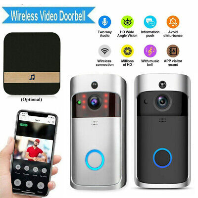 Wireless Smart Door Bell Chime Home Security Camera System Wifi Intercom Remote • 28.99£