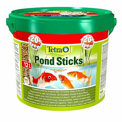 £19.95 • Buy 10 Litre + 20% Extra Free Tetra Pond Sticks Floating Koi Fish Food Daily Diet L